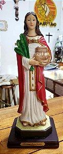 Santa Apolônia resina 32 cm