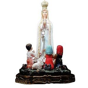 Nossa Senhora de Fátima com Pastorinhos 18 cm