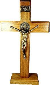 Crucifixo Madeira São Bento 28 cm