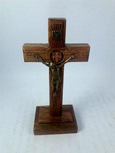 Crucifixo Madeira São Bento 20 cm