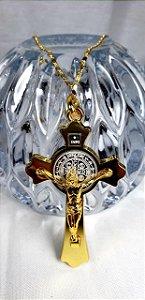 Crucifixo Inox Dourado