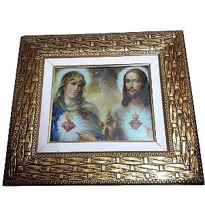 Quadro Sagrado Coração de Jesus e Maria
