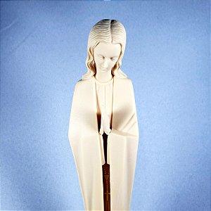 Nossa Senhora do Silêncio Amarela 24 cm Importada Portugal