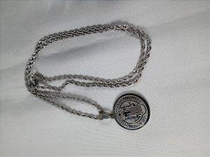 Cordão Medalha de São Bento Inox Médio