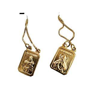 Escapulário Folheado Dourado Nossa Senhora do Carmo