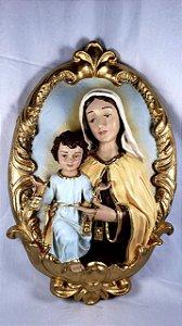 Medalhão de Parede Nossa Senhora do Carmo 40 cm
