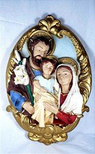 Medalhão de Parede Sagrada Família 40 cm