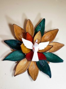 Divino Espirito Santo Semente Artesanal Decorativo Grande