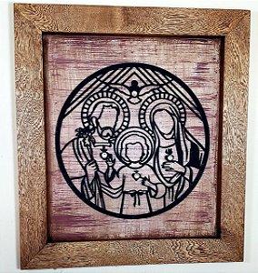 Quadro de Madeira Sagrada Família