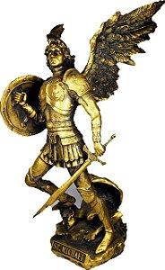 São Miguel Arcanjo 30 cm Dourado