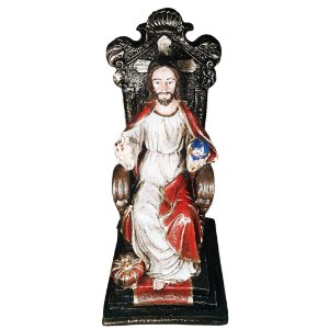 Cristo Rei Sentado no Trono 28 cm