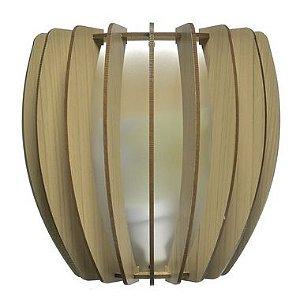 Luminária Arandela LED 40W Bojo Madeira Carvalho