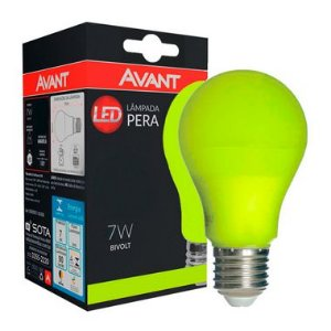 Lâmpada LED Bulbo 7W Residencial Amarela Bivolt E27 | Inmetro