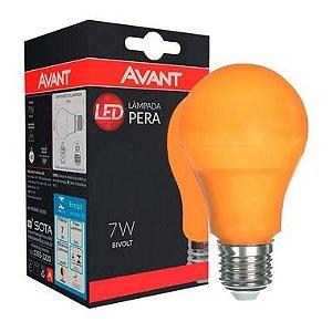Lâmpada LED Bulbo 7W Residencial Laranja Bivolt E27 | Inmetro