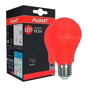 Lâmpada LED Bulbo 7W Residencial Vermelho Bivolt E27 | Inmetro