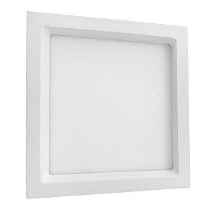 Luminária Plafon LED de Embutir Recuada 36W Quadrada Branco Neutro