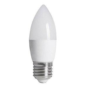Lâmpada LED Vela Leitosa E14 3W Bivolt Branco Quente | Inmetro