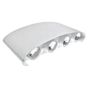Luminária Arandela LED 8W Externa Branco Frio Branca