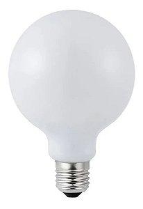Lâmpada LED Filamento G80 5W Branco Quente Bivolt | Inmetro