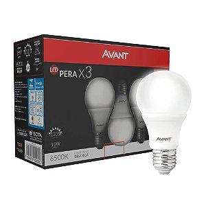 Lâmpada LED Bulbo 15w Branco Frio Pack 3 unidades
