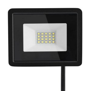 Refletor MicroLED Ultra 20W Branco Frio Black Type
