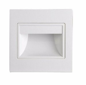 Balizador LED 1,5W De Embutir Quadrado Branco Quente