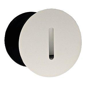 Balizador LED 3W De Embutir Redondo Branco Quente