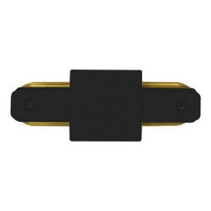 Conector Emenda tipo Reto para Trilho Eletrificado LED Cor Preta