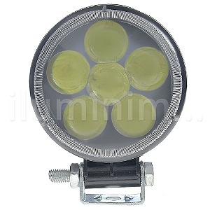 Farol de Milha LED Redondo 18W Auxiliar Automotivo