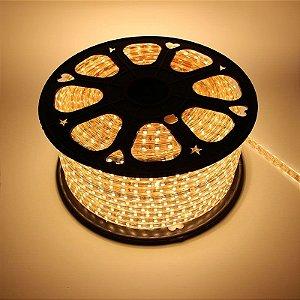 Fita LED Branco Quente 5050 100 metros Dimerizável 110v - À prova d'água