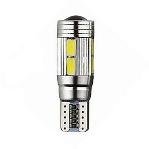 Lâmpada LED Automotiva T10 5W Cambus Cree 10 Leds Rosa