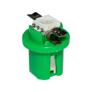 Lâmpada LED Automotiva T5 1W B8.5D Verde