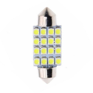 Lâmpada LED Automotiva Torpedo 16 Leds C5w 36mm