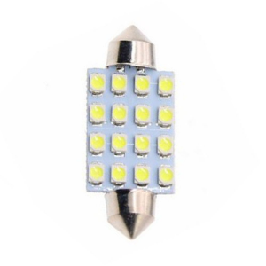 Lâmpada LED Automotiva Torpedo 16 Leds C5w 41mm