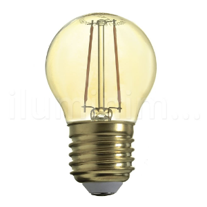 Lampada LED Bolinha 2W Vintage Carbon Branco Quente | Inmetro