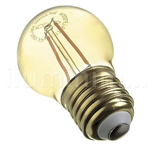 Lampada LED Bolinha 4W Vintage Carbon Branco Quente   Inmetro