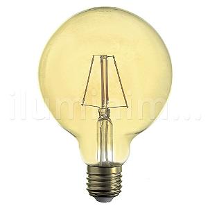Lampada LED Globo G95 4W Vintage Carbon Branco Quente | Inmetro