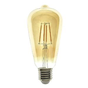 Lâmpada LED Pera Espiral 4w Vintage ST64 Branco Quente | Inmetro