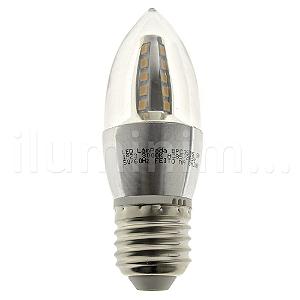 Lâmpada LED Vela Cristal E27 5W Bivolt Branco Quente | Inmetro