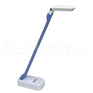Luminária LED de Mesa 4W Portátil com Entrada USB - Azul