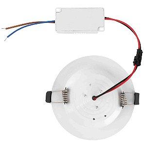 Luminária Plafon 12w LED Embutir Concavo Branco Frio