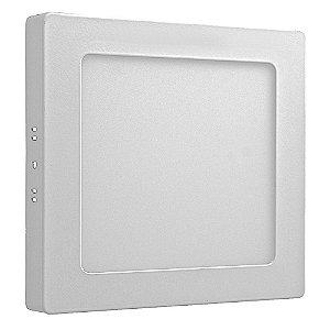 Luminária Plafon 12w LED Sobrepor Branco Quente