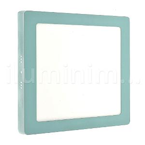 Luminária Plafon 18w LED Sobrepor Branco Frio Verde