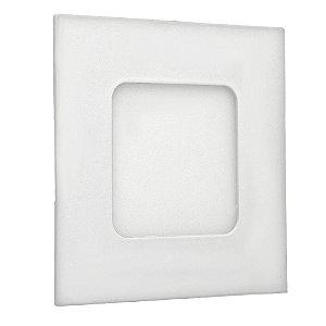 Luminária Plafon 3w LED Embutir Branco Neutro