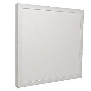 Luminária Plafon 40x40 36w LED Sobrepor Branco Quente