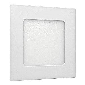 Luminária Plafon 6w LED Embutir Branco Quente
