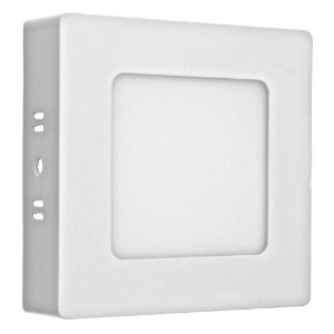Luminária Plafon 6w LED Sobrepor Branco Neutro