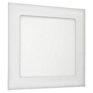 Luminária Plafon LED 12W Embutir Branco Frio