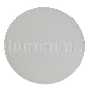 Luminária Plafon LED 24W Embutir Redonda Branco Frio Borda Infinita