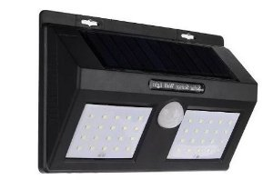Luminaria Solar LED Sensor de Movimento 12 Leds
